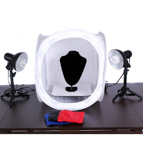 Complete Jewelry Lighting Kit with Bust Tent Lights and Display Table 17TENT-  sc 1 st  Cowboy Studio & 17TENT_MINITABLEKIT_BUST_PS13