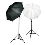 Photo Studio Soft Reflective Umbrella Continuous Lighting Kits with Optional Carrying Case, 400 Watt Output, 2050KIT