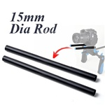 2x 15mm Rail Rod f Rig System Follow Focus Rig DSLR,  2X RAIL ROD
