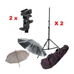 Photography Photo Studio Flash Mount Umbrellas Light Stand Kit, Mount B