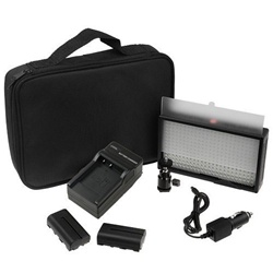 312 Ultra High Powered Super Bright Video LED Dimmable Light Kit with Change Switches, 2x Battery, Battery Charger, Camera Bracket and Carrying Case, 312AK LED LIGHT