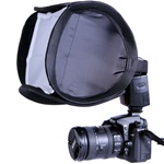 "9"" Portable Quick Setup Speedlite Softbox with Velcro Strap for Nikon Canon Flash Light, 9IN SPEEDLITE"