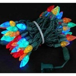 C6 String LED Christmas Light Set with 35 Strawberry Lights, 7 Color Options, GCH-C6-35L