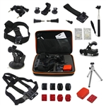 Pro 13-in-1 Accessories Set Head Chest Strap Monopod Tripod Bag Mount For Gopro Hero 1 2 3 4