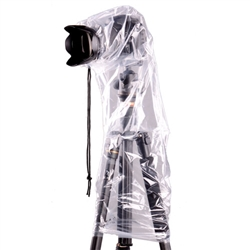 2PCs Waterproof Rain Cover (Dust Proof) Protector for DSLR Camera with External Flash, JJC RI-5 RAIN COVER