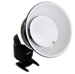 Beauty Dish for Speedlight On Camera Flash Photography Light Modifier - Fits Canon, Nikon, Olympus, Sony, Panasonic, Pentax, Sigma & Other External Flash , K-8 BEAUTY DISH