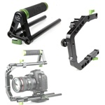 Lanparte C Support Cage Clamp & Top Handle Grip Set for 15mm Rail Rig System (Dslr Video), LanParte TH-01+CA-01