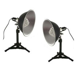 Photo Studio Reflector Continuous Lighting Kit, 250 or 500 Watt Output, MINIPS03 KIT