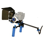 DSLR Shoulder Mount Rig 2 Hand & Follow Focus & Matte Box for DSLR Canon Nikon Sony, RL-00IISet