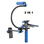 DSLR DV Rig Movie Kit Shoulder Mount Stabilizer Support System with One Handle & Top Handle & C Cage, RL-00IR-TOPHANDLE