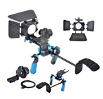 DSLR VCR Rig Movie Kit Shoulder Mount w/ Follow Focus And Matte Box for 15mm Rods, RL02Kit