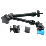 Articulating Magic Arm for mounting HDMI Monitor LED lights, with 15mm Rod Clamp