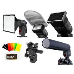 Godox 6 in 1 Speedlite Flash Accessory Kit with Softbox Filter Reflector Flash Light Beam Snoot, SA-K6