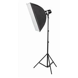 Photo Studio Single MonoLight Strobe Flash Lighting Softbox Kit, SINGLEMONO_KIT