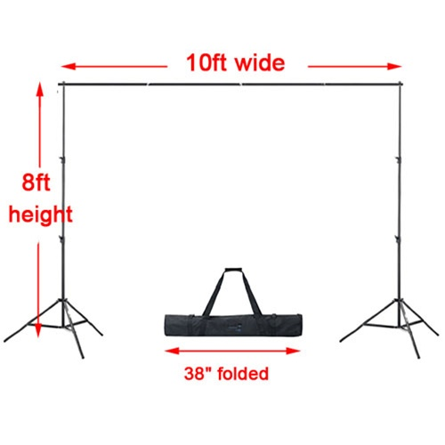 Photography Video 10 Ft Heavy Duty Backdrop Support System