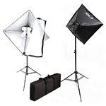 1600 Watt Digital Video Softbox Umbrella Continuous Lighting Kit with Carrying Case, VL-9004SKIT
