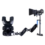 Magic Carbon Fiber Handheld Stabilizer Kit with Camera Shoulder Load Vest, Double Handle Arm & Matte Box for DSLR DV Camera