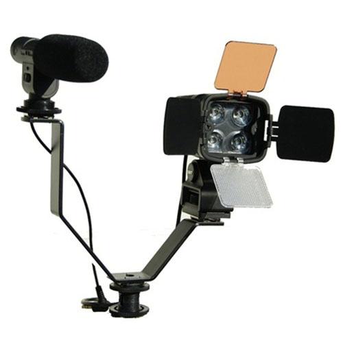 Dual Mount Bracket For Video Lights Amp Microphones On