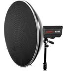 Photo Studio Beauty Dish for Bowen Strobe Light with Grid, White inside