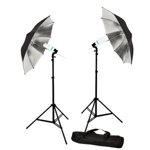 Cowboy Studio Lighting Kit Setup: Photo Studio Reflective Umbrella Continuous Lighting Kits