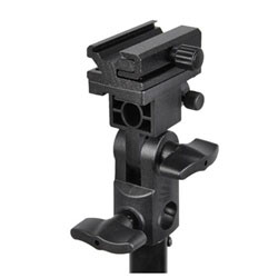 Flash Shoe Holder Light Stand Mount with Top Screw, Mount B