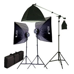 2275 Watt Photo Studio Lighting Softbox Video Light Kit Boom Set & Carry Case, 2000WBOOMKIT