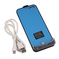 2200mAh External Power Bank Battery Charger Cover Case Pack for iPhone 5