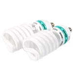 Two 105 Watt, 5500 K Photo Fluorescent Daylight Light Bulbs