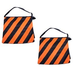 Two Orange High Quality Photography Studio Stage Film Light Stand Sandbags, 2X ORANGE SANDBAG