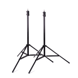 Premium 9' Heavy Duty Air Cushioned Video Studio Light Stand Black, 2 Pack - 2X 806A Black