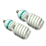 Two 85 Watt, 5500 K Photo Fluorescent Daylight Light Bulbs