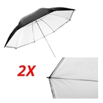 2x Double Layer Black/White Reflective Photo Studio Umbrella