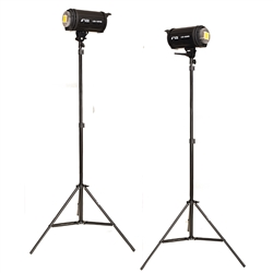 TWO Studio Video 100WSI Adjustable LED Light Stand Kit, 2xLED100WSI-2x803