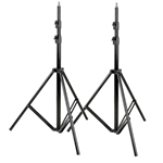 Professional Aluminum Adjustable 7 ft Light Stand, 2 Pack - 2X 8051
