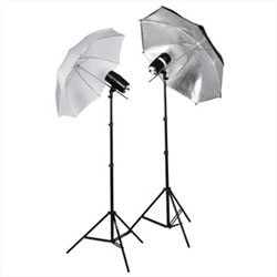 320 Watt Photo Studio MonoLight Strobe Flash Lighting Umbrella Kit (Optional Carrying Case)