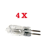 Four 75 Watt Halogen Replacement Lamp-2 pin, 4x 75W HALOGEN-2 PIN