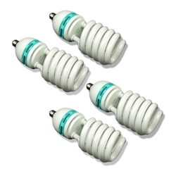 Four 85 Watt, 5500 K Photo Fluorescent Daylight Light Bulbs