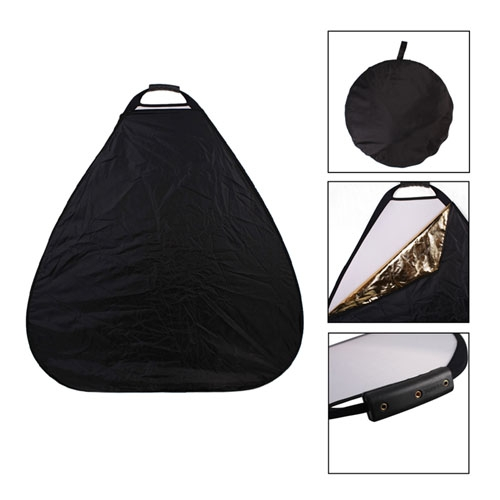 Photography Photo Portable Grip Reflector 5in1 Triangle Collapsible Multi  Disc Reflector with Handle, 5-IN-1 Triangle GRIP REFLECTOR