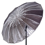 57in Strobe Speedlight Flash Reflector Silver Black Reflective Umbrella