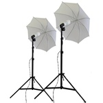 Photo Studio Soft Umbrella Continuous Lighting Kits, 600 Watt Output, 600WKIT