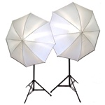 Photo Studio Soft Umbrella Continuous Lighting Kits, 800 Watt Output,  800W KIT