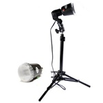 Backlight Slave Strobe Flash Stand Photo Studio Lighting Kit, 801-AC-40WSTROBE