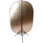 "24"" x 36"" 5in1 Reflector Kit with Stand and Soft Silver/Gold/Black/White/Diffuser, 803_24X36 5IN1_HOLDING CAP"
