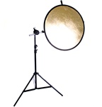 32 inch 2in1 or 5in1  Round Reflector with Light Stand and  Premium Reflector Arm, 8051-32INREFLECTOR-H2258
