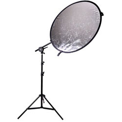 32 inch 2in1 or 5in1  Round Reflector with Light Stand and Reflector Arm, 8051-REFLECTOR-C HOLDING ARM