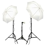 Photo Studio Umbrella Continuous Lighting Kits, 900 Watt Output (Optional Carrying Case),  900W Kit