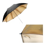 Black/Gold Reflective Photo Studio Umbrella, B/G UMB