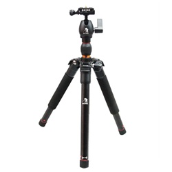Beike Folding Traveler Tripod with Ball Head for DSLR Camera, Great for Travel w/ Only 13in When Folded, BK-555