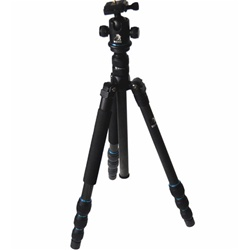 Beike Trans-Functional Travel Angle Carbon Fiber Tripod with Monopod, BK-586