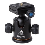 Pro Camera Tripod Ball Head Quick Release Plate With Gradienter BK-03